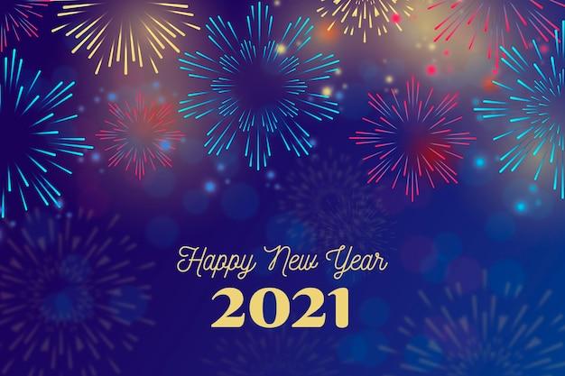 Feu D'artifice Nouvelle Déchirure 2021 Vecteur Premium