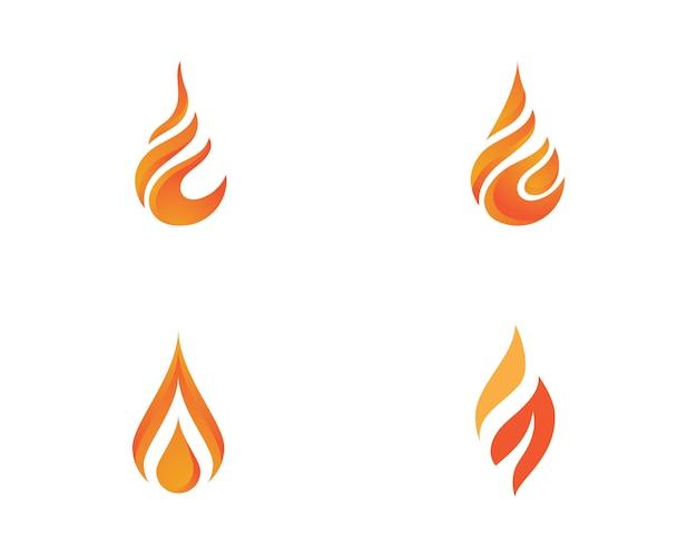 Feu flamme logo logo modèle Vecteur Premium