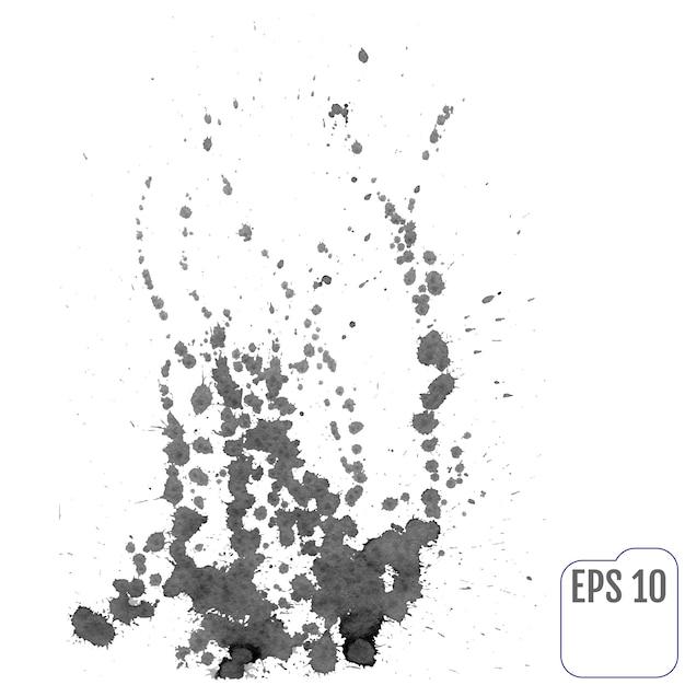 Feu de joie des éclaboussures d'encre. illustration vectorielle Vecteur Premium