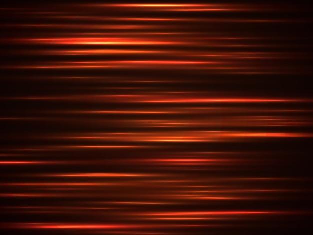 Feu lignes de vitesse orange Vecteur Premium