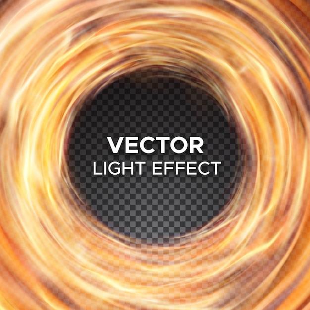 Feu de vecteur flammes sur fond transparent Vecteur Premium