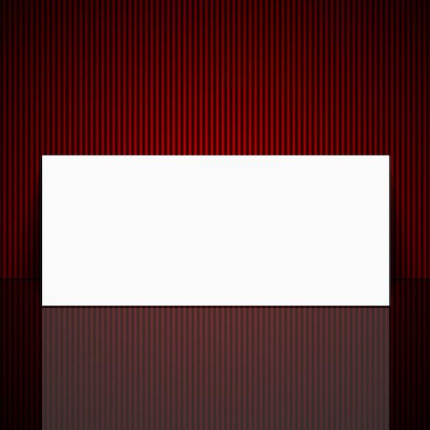 Feuille blanche sur un beau fond rouge. Vecteur Premium