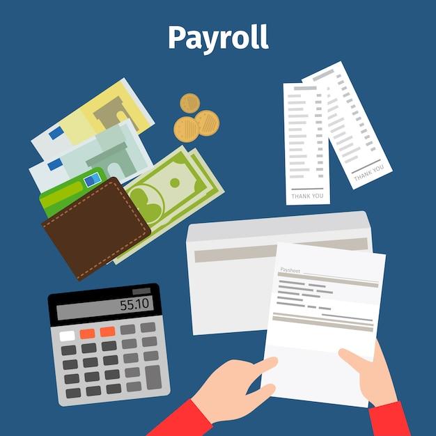 Feuille de facture ou icône de paie Vecteur Premium