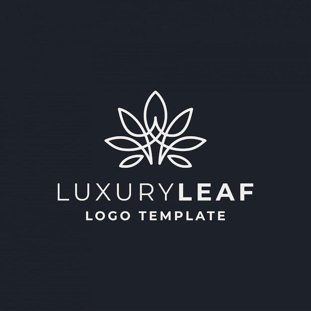 Feuille de luxe pour le cannabis Vecteur Premium