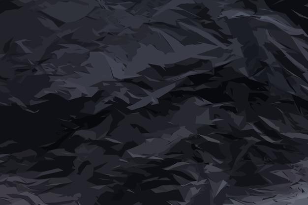 Feuille Noire Complètement Brûlée De Fond De Texture De Papier. Modèle De Papier Carbonisé Froissé Avec Espace De Copie Vecteur Premium