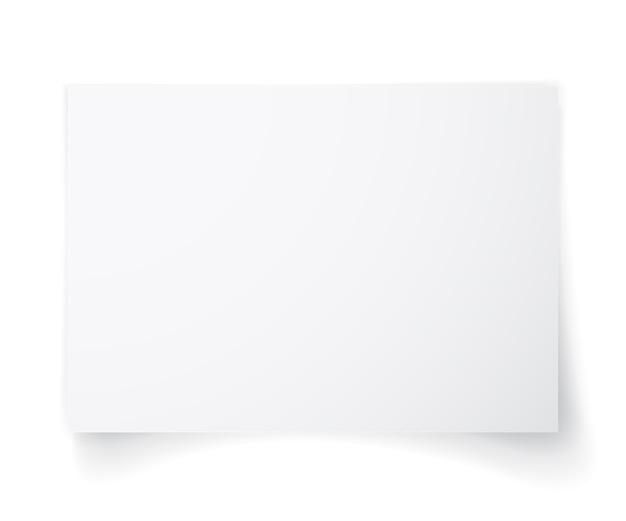 Feuille De Papier Blanc Avec Ombre, Modèle Pour Votre. Ensemble. Vecteur Premium