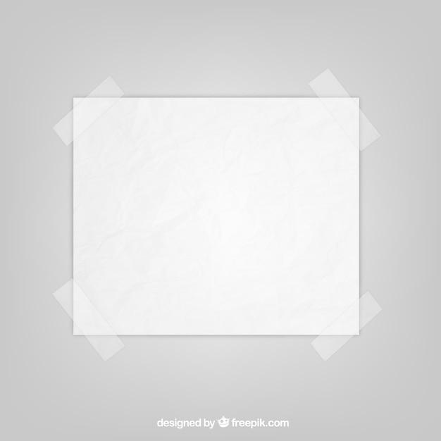 Feuille de papier avec du ruban adhésif Vecteur gratuit