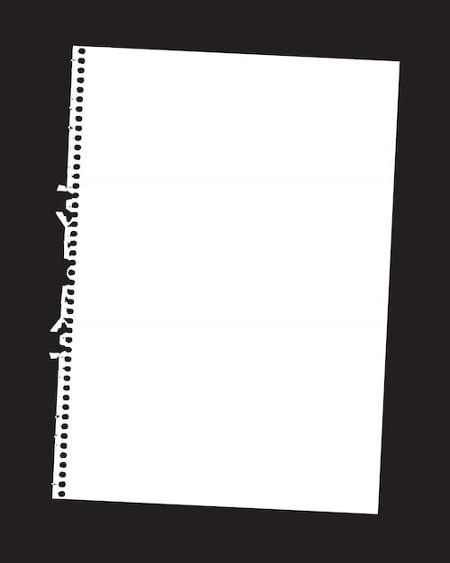 Feuille de papier Vecteur Premium