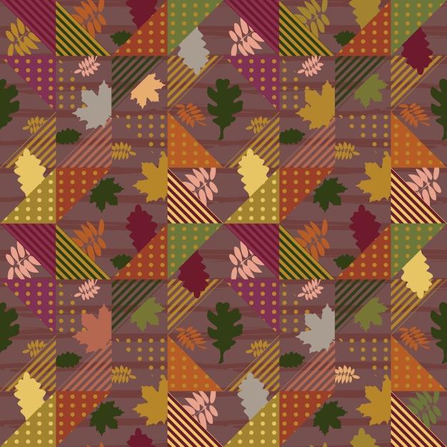Feuilles d'automne motif géométrique abstrait Vecteur Premium