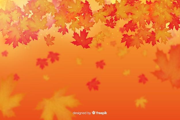 Feuilles d'automne style réaliste Vecteur gratuit