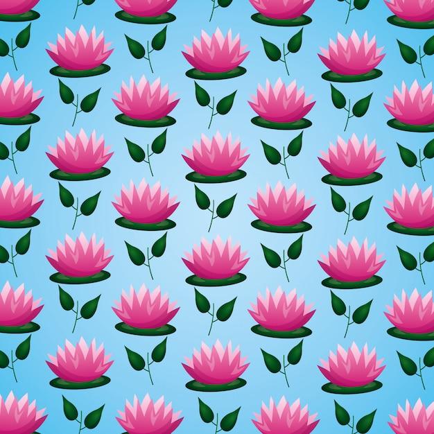 Feuilles De Fleurs De Lotus Vecteur gratuit