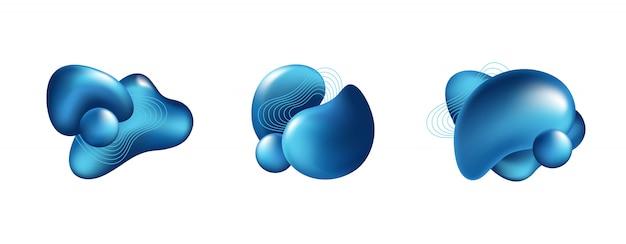 Figures abstraites colorées Vecteur gratuit