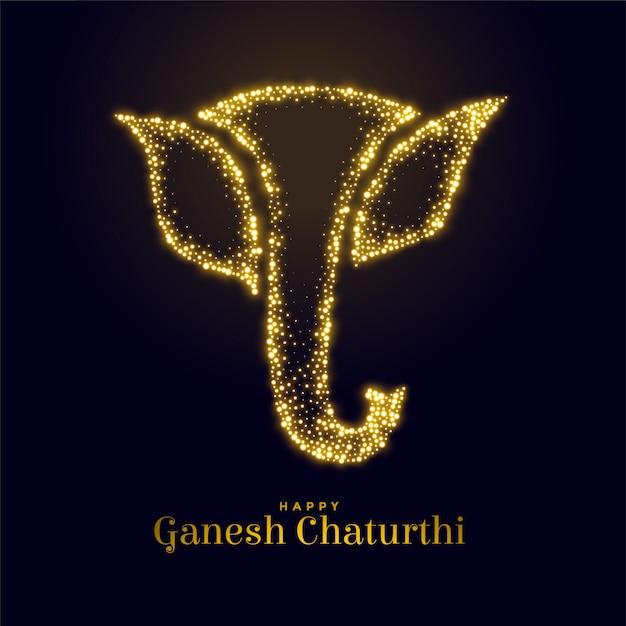 Figurine Sparkling Lord Ganesha Pour Ganesh Mahotsav Vecteur gratuit
