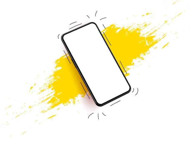 Filaire De Modèle Mobile Pour Le Développement D'applications Illustration 3d Réaliste. Vecteur Premium