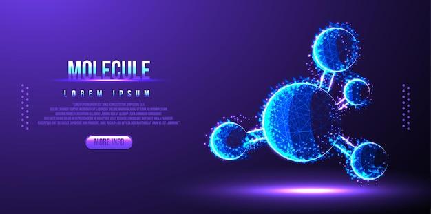 Filaire Poly Faible Adn Molecule Vecteur Premium