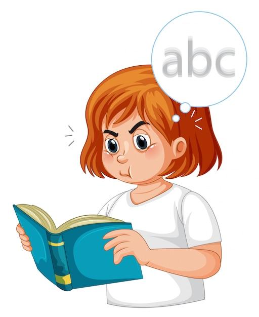 Une fille diabétique ayant une vision floue Vecteur gratuit