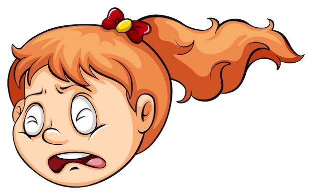 Une fille qui pleure Vecteur gratuit
