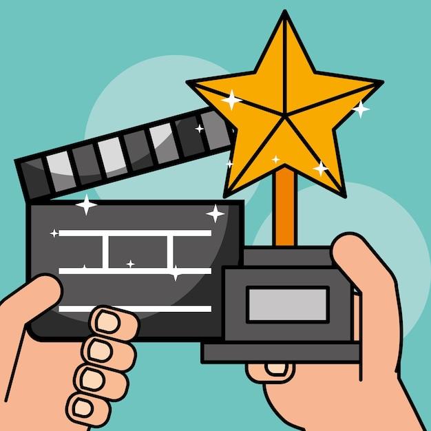 Film cinéma cinéma Vecteur Premium