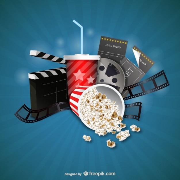 Film et cinéma objets Vecteur gratuit