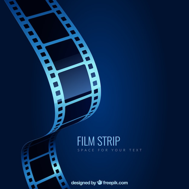 Film strip fond Vecteur gratuit