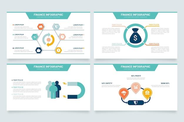 Finance D'infographie Vecteur Premium