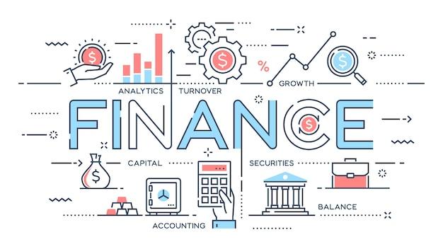 Finance, Investissement, Analytique, Croissance, Ligne Mince Bancaire Vecteur Premium