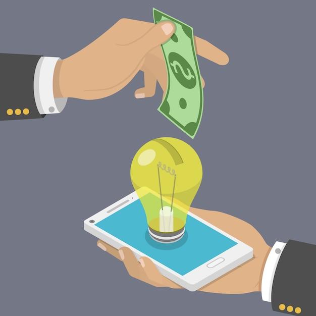 Financement Participatif Concept De Vecteur Isométrique Plat. Vecteur Premium