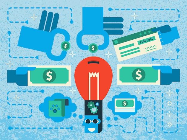 Financement participatif Vecteur Premium