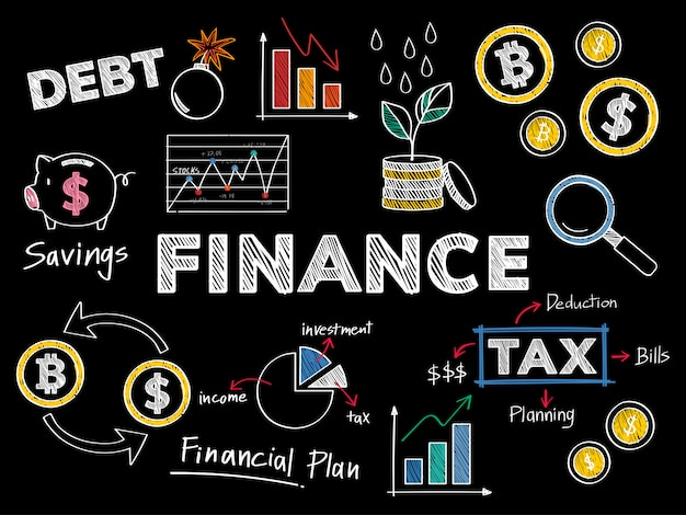 Finances et illustration de concept de performance financière Vecteur gratuit