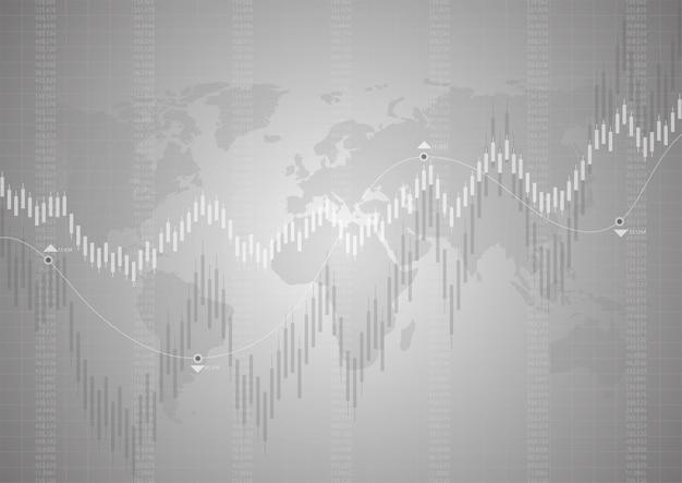 Financière boursière Vecteur Premium