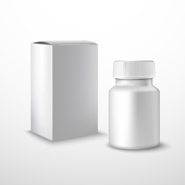 Flacon de médicament vide Vecteur gratuit