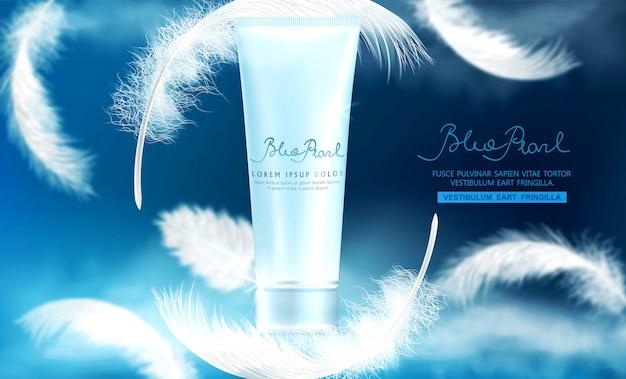 Flacon-tube en plastique réaliste avec crème Vecteur Premium