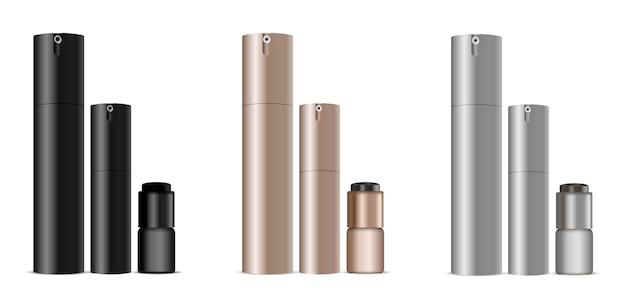 Flacons distributeurs pour déodorant, parfum, crème Vecteur Premium