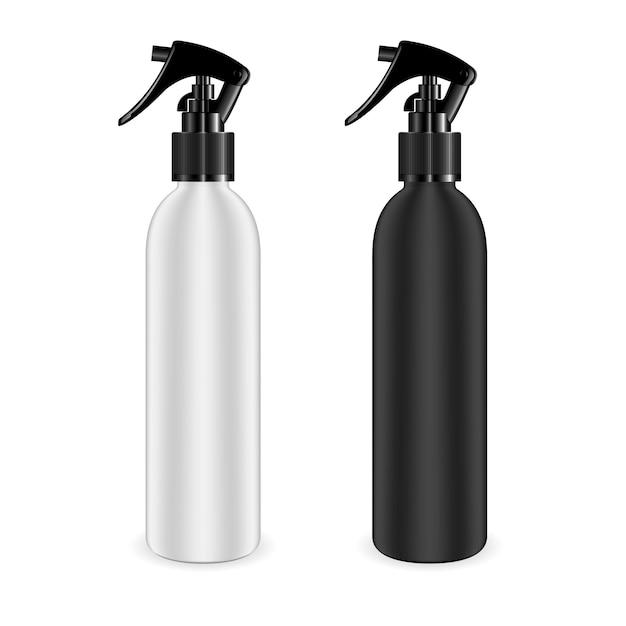 Flacons vaporisateurs pour produits cosmétiques et autres. Vecteur Premium