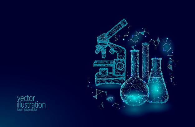 Flacons en verre chimique low science science. équipement magique Vecteur Premium
