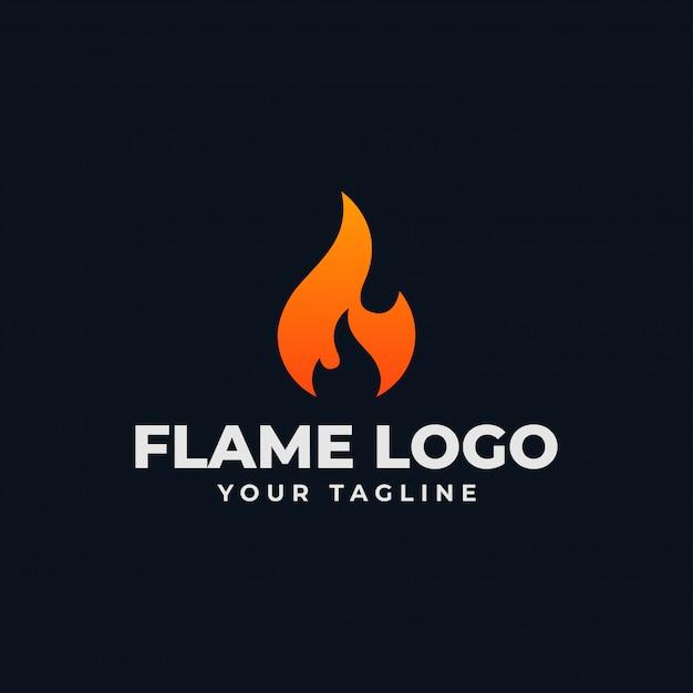 Flamme De Feu Abstrait, Modèle De Conception De Logo Burn Vecteur Premium