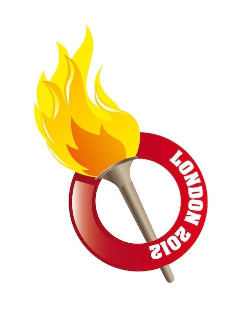 Flamme olympique Vecteur Premium
