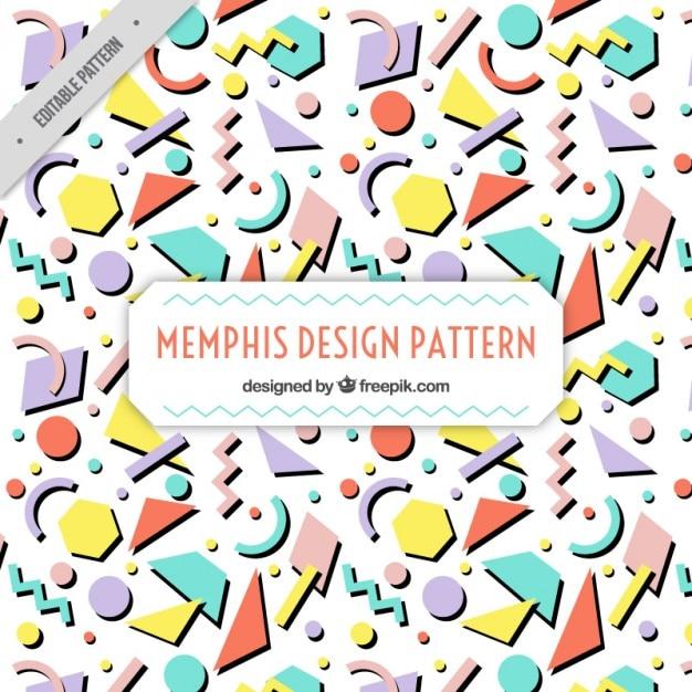 flat formes g om triques motif memphis t l charger des vecteurs gratuitement. Black Bedroom Furniture Sets. Home Design Ideas