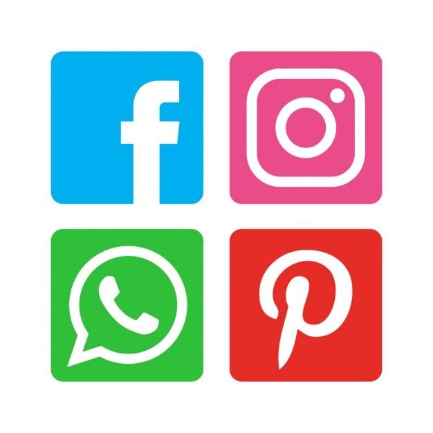 Flat icon pack de médias sociaux Vecteur gratuit