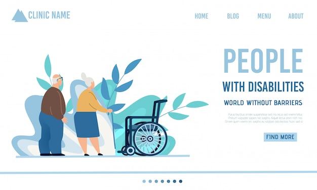 Flat landing page offre des soins infirmiers ou à domicile Vecteur Premium
