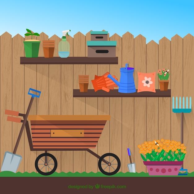 Flat outils de jardin avec un panier t l charger des for Outil de conception jardin