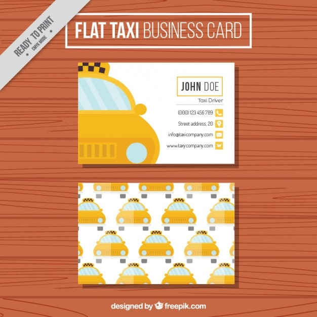 flat taxi carte de visite avec motif t l charger des vecteurs gratuitement. Black Bedroom Furniture Sets. Home Design Ideas