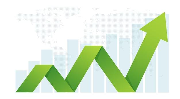 La Flèche D'affaires Définit Le Concept D'objectifs Pour Le Succès Croissance Financière. Vecteur Premium