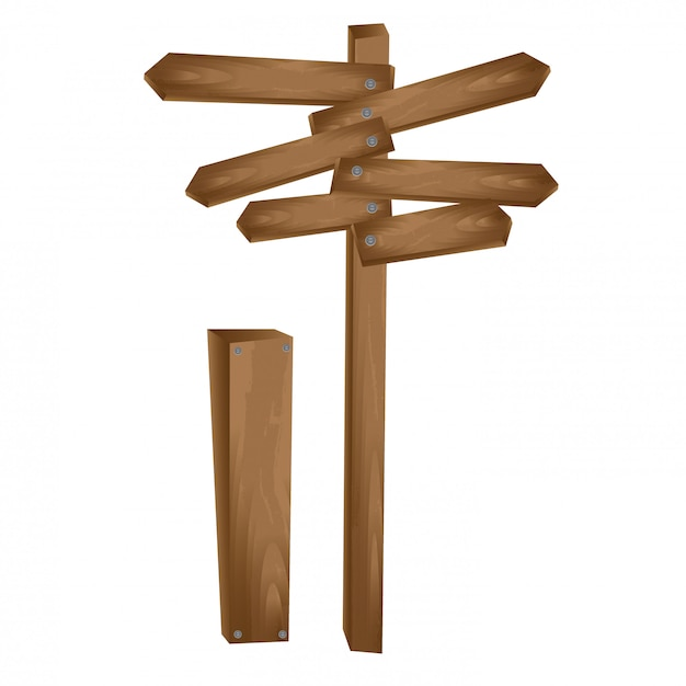 Flèche en bois Vecteur gratuit