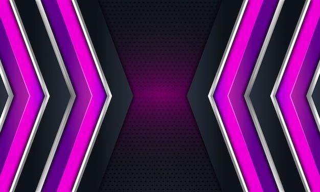 Flèche Violette Sur Fond Noir Foncé Vecteur Premium