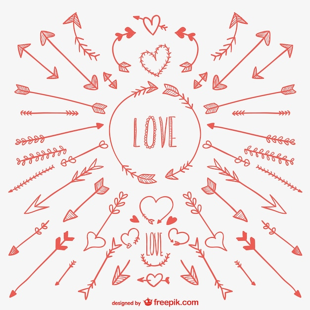Dessin De Fleche des flèches d'amour dessins | télécharger des vecteurs gratuitement