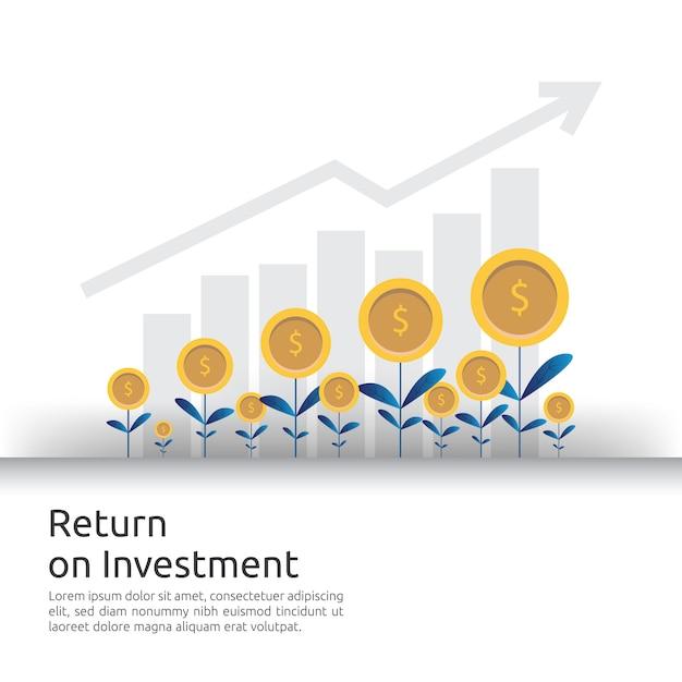 Les flèches de croissance des entreprises à la réussite augmentent les bénéfices. Vecteur Premium