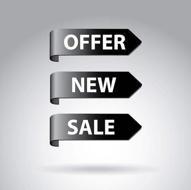 Flèches shopping Vecteur Premium