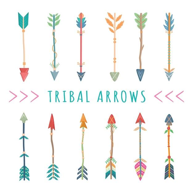 Flèches Tribales Vecteur Premium