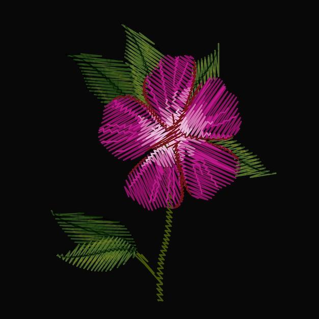 Fleur D'azalée Colorée Vecteur Premium